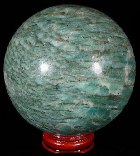 "3.4"" Polished Amazonite Crystal Sphere - Madagascar"