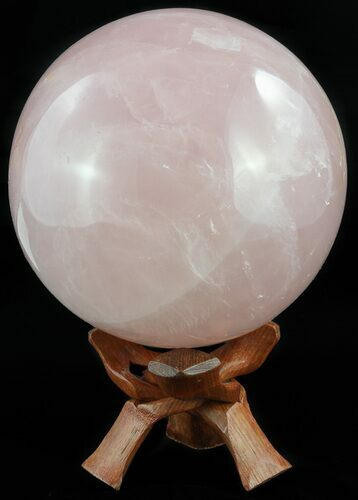 "5.6"" Polished Rose Quartz Sphere - Madagascar"