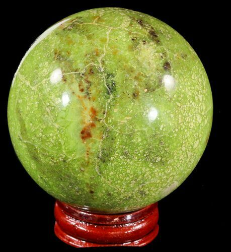 "2.6"" Polished Green Opal Sphere - Madagascar"