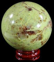 "2.3"" Polished Green Opal Sphere - Madagascar For Sale, #55076"
