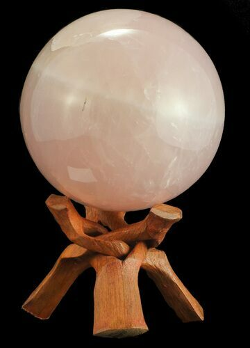 "5.9"" Polished Rose Quartz Sphere - Madagascar"