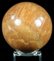 "2.7"" Polished, Orange Calcite Sphere - Madagascar For Sale, #55094"