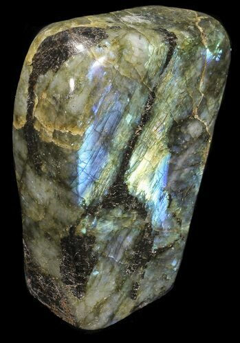 "4.7"" Tall, Flashy Polished Free Form Labradorite"