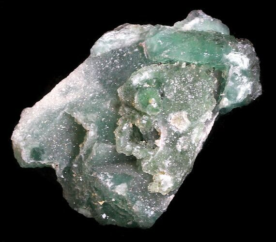 "1.6"" Green Fluorite & Druzy Quartz - Colorado"