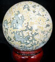 "Buy 2.75"" Unique Ocean Jasper Sphere  - #32176"