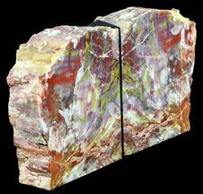 "6"" Tall, Colorful, Arizona Petrified Wood Bookends For Sale, #56033"