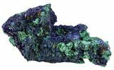 "2.1"" Sparkling Azurite Crystal Cluster with Malachite - Laos - #56059-2"