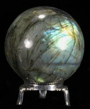 "Buy 2.45"" Flashy Labradorite Sphere - With Nickel Plated Stand - #53569"