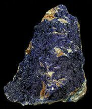 "Buy 4.4"" Azurite on Orange Barite - Morocco - #57025"