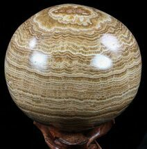 "5.1"" Polished, Banded Aragonite Sphere - Morocco For Sale, #56999"