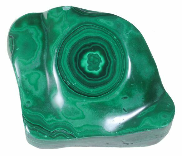 "Bargain, 3.3"" Polished Malachite - Congo"
