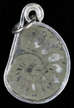 Buy Pyrite Replaced Ammonite Fossil Pendant  - #58417