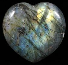 "Buy 3.1"" Flashy Polished Labradorite Heart - #58894"
