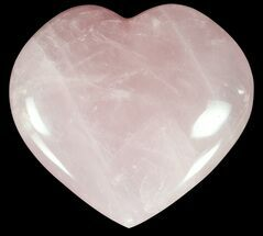 "Buy 3.8"" Polished Rose Quartz Heart - Madagascar - #59104"