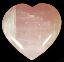 "Buy 3.5"" Polished Rose Quartz Heart - Madagascar - #59107"