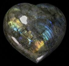 "Buy 3.6"" Flashy Polished Labradorite Heart - #58897"