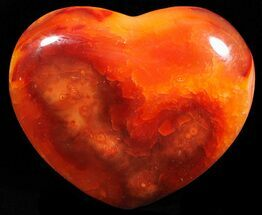 "2.7"" Colorful Carnelian Agate Heart For Sale, #59528"
