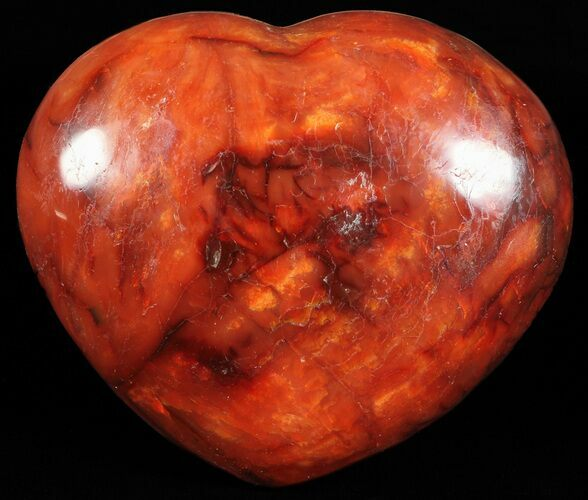 "4.9"" Colorful Carnelian Agate Heart"