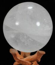 "4.3"" Polished Quartz Sphere - Madagascar For Sale, #59480"