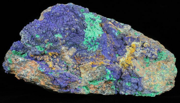 "Large, 8.5"" Malachite with Azurite Specimen - 12 1/2 lbs"
