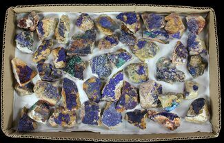 Wholesale Flat: Sparkling, Drusy Azurite & Malachite - 44 Pieces For Sale, #61577