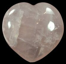 "4.4"" Polished Rose Quartz Heart - Madagascar For Sale, #62486"
