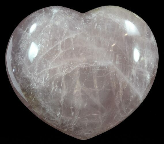 "4.4"" Polished Rose Quartz Heart - Madagascar"