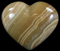 "3.5"" Polished, Brown Calcite Heart - Madagascar For Sale, #62546"
