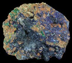 "10.3"" Large Malachite with Azurite Specimen (25 Lbs) - Morocco For Sale, #60722"