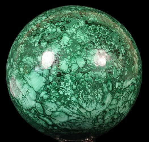 "Huge, 6"" Polished Malachite Sphere - Congo"