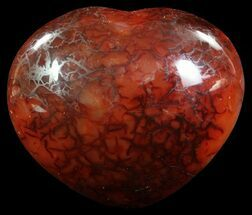"3.6"" Dark Carnelian Agate Heart For Sale, #63056"