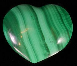"1"" Polished Malachite Heart - Congo For Sale, #63188"