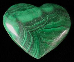 "1"" Polished Malachite Heart - Congo For Sale, #63191"