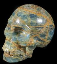 "Buy 5.8"" Carved, Blue Onyx Skull - Argentina - #63274"