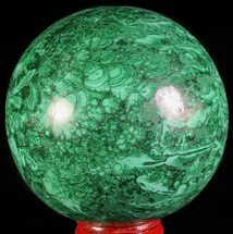 "Buy Gorgeous 2.85"" Polished Malachite Sphere - Congo - #63739"