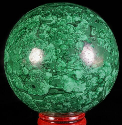 "Gorgeous 2.6"" Polished Malachite Sphere - Congo"