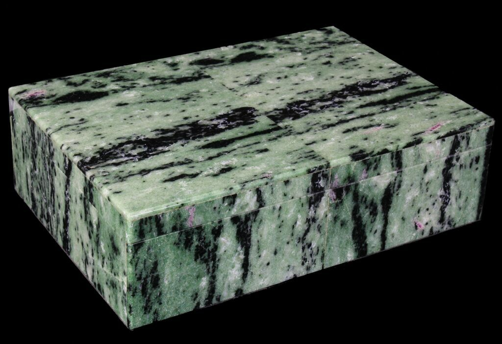 "7.9"" Wide Ruby Zoisite Jewelry Box - Stunning"