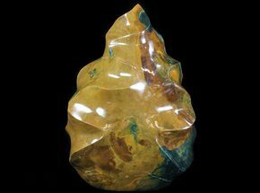 "12"" Polished Jasper Flame Sculpture - 27 lbs For Sale, #64877"