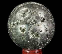 "2.5"" Polished Pyrite Sphere - Peru For Sale, #65117"