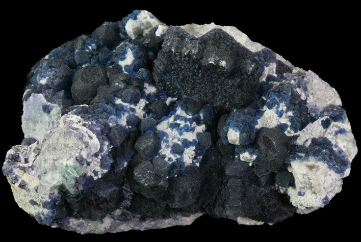 "4.4"" Deep Blue Fluorite Crystals - China"