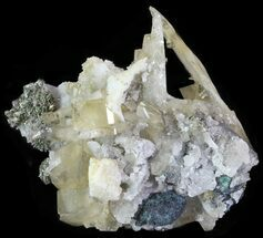 Marcasite, Quartz & Barite - Fossils For Sale - #64374