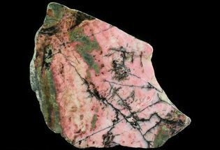 "Buy 5.2"" Polished Rhodonite Slab - Australia - #65413"