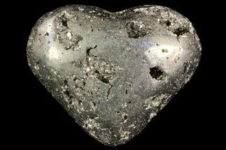 "Buy 2.8"" Polished Pyrite ""Heart"" - Peru - #66481"