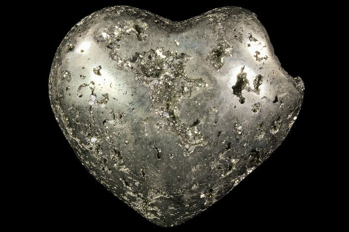 "2.4"" Polished Pyrite ""Heart"" - Peru"