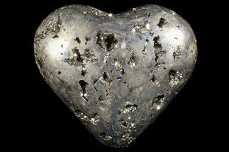 "2.9"" Polished Pyrite ""Heart"" - Peru For Sale, #66494"