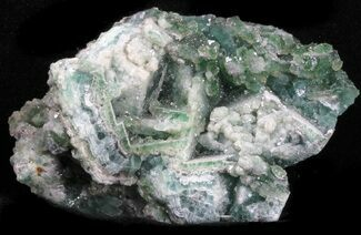 "Buy 2.8"" Green Fluorite & Druzy Quartz - Unaweep Canyon, Colorado - #33352"