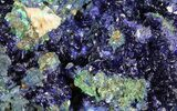 "3"" Sparkling Azurite Crystal Cluster with Malachite - Laos - #69726-2"