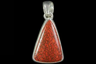 "Buy 1.1"" Agatized Dinosaur Bone (Gembone) Pendant - Sterling Silver - #69955"