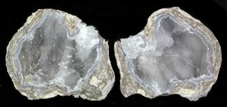 "3.3"" Crystal Filled Dugway Geode - Sparkly Quartz For Sale, #33179"