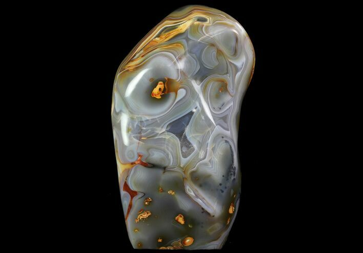 "10.5"" Gorgeous Agate Free Form Sculpture - 14 Lbs"